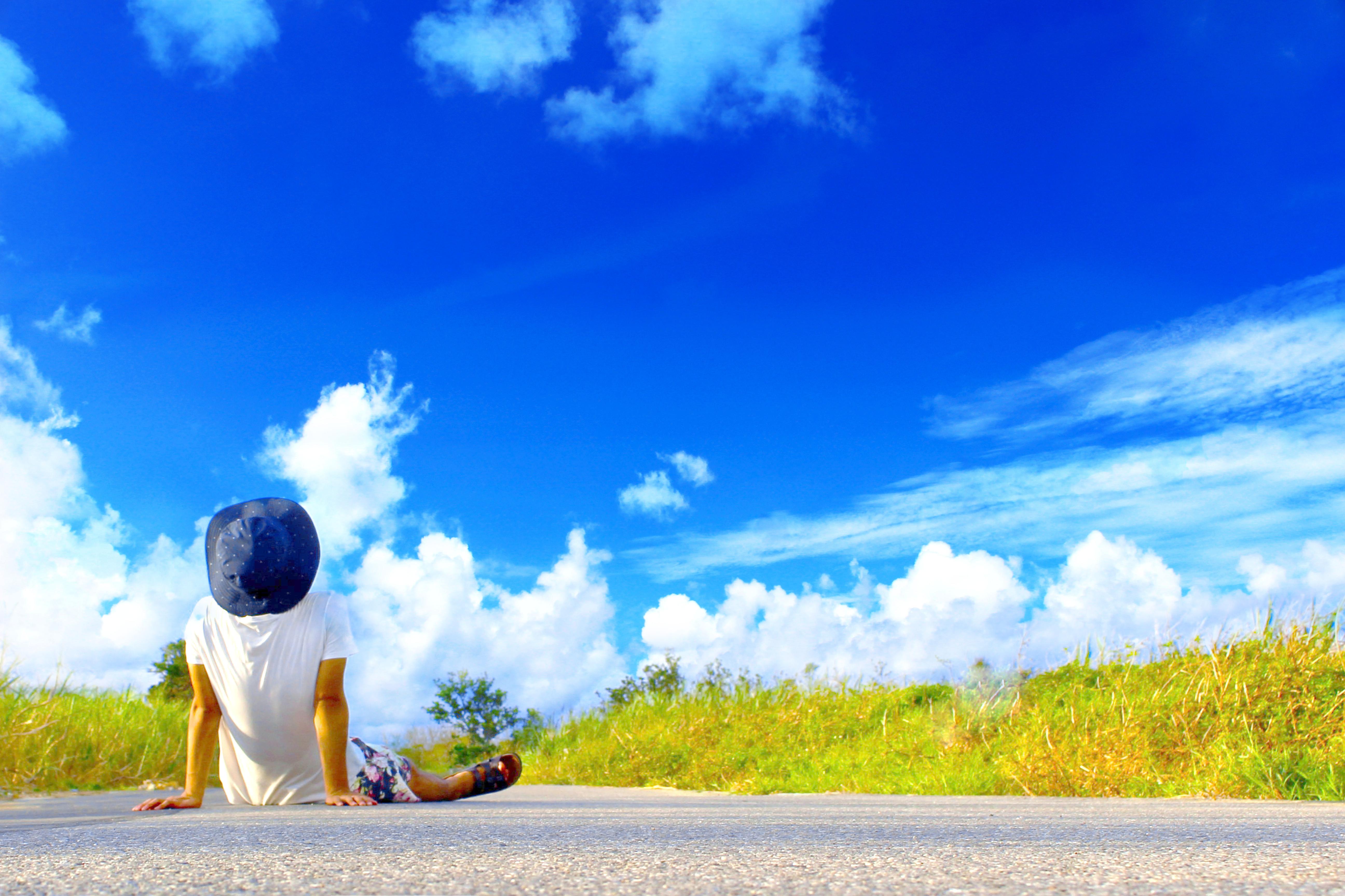 青空を流れていく雲を見ながら、ゆっくり過ごす時間はリフレッシュに最適です!